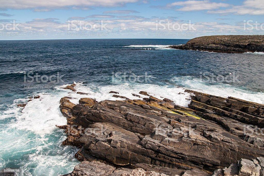 Cliffs of Kangaroo Island stock photo