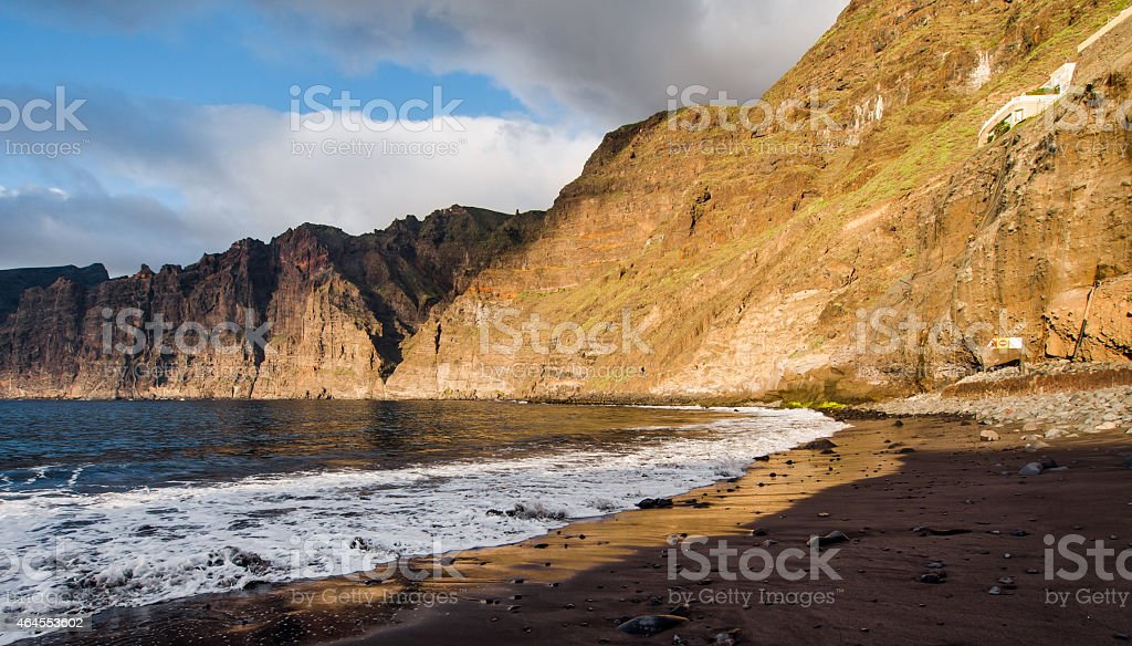 Cliffs of Los Gigantes stock photo