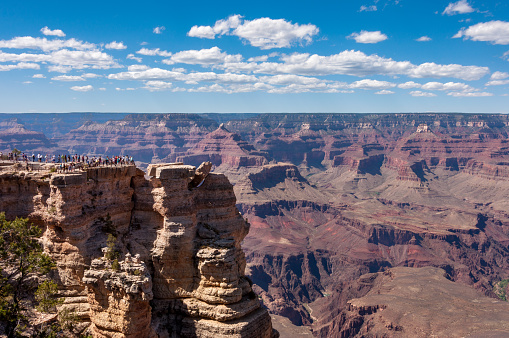 Cliffs of Mather Point in Grand Canyon National Park, Arizona United States