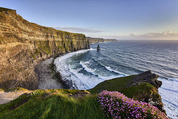 Cliffs of Moher at sunset, Co. Clare, Ireland stock photo
