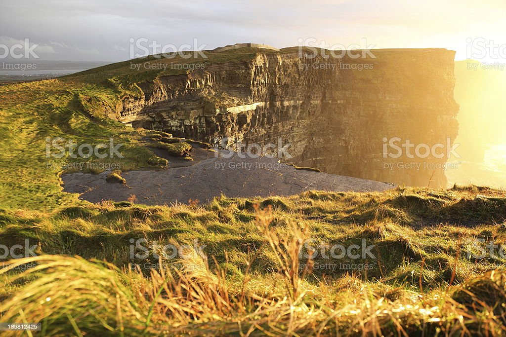 Cliffs of Moher at sunset in Co. Clare, Ireland royalty-free stock photo