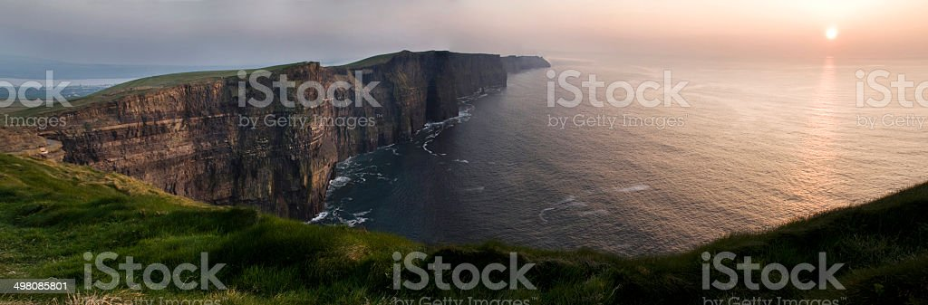 Cliffs of Moher at sunset - Ireland royalty-free stock photo