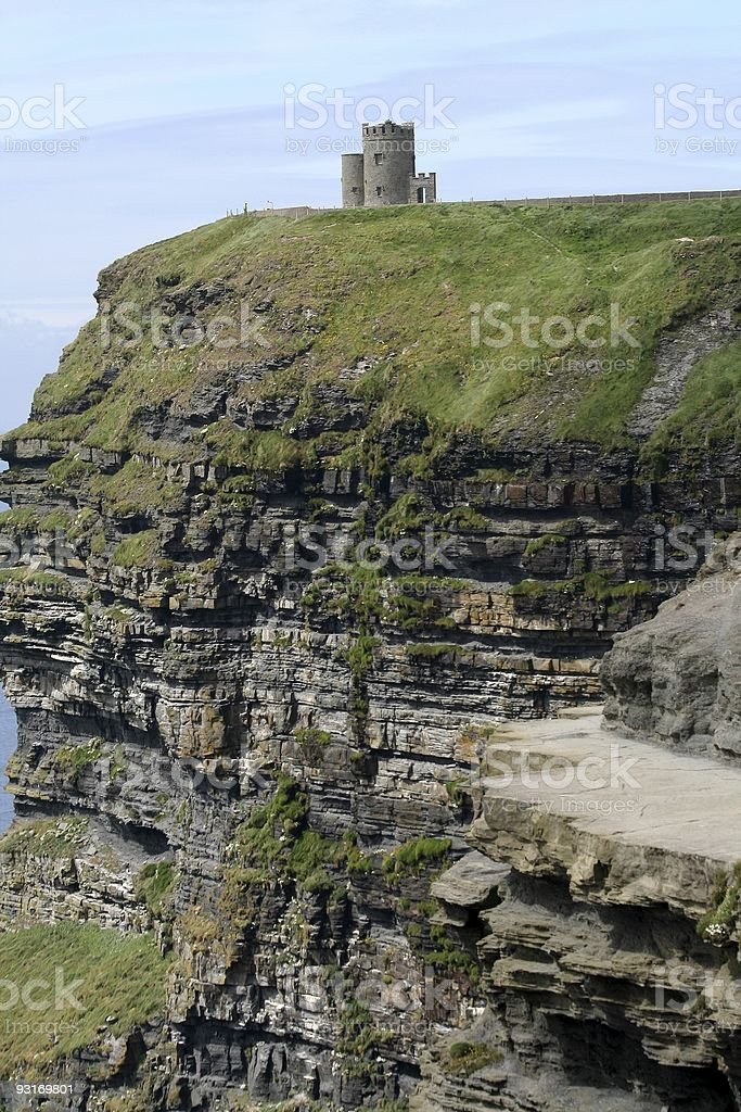 Cliffs of Moher Brien Tower royalty-free stock photo