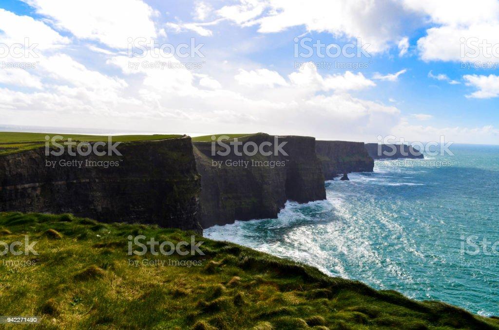 Cliffs of Moher Doolin Ireland Irish famous sightseeing cliff...