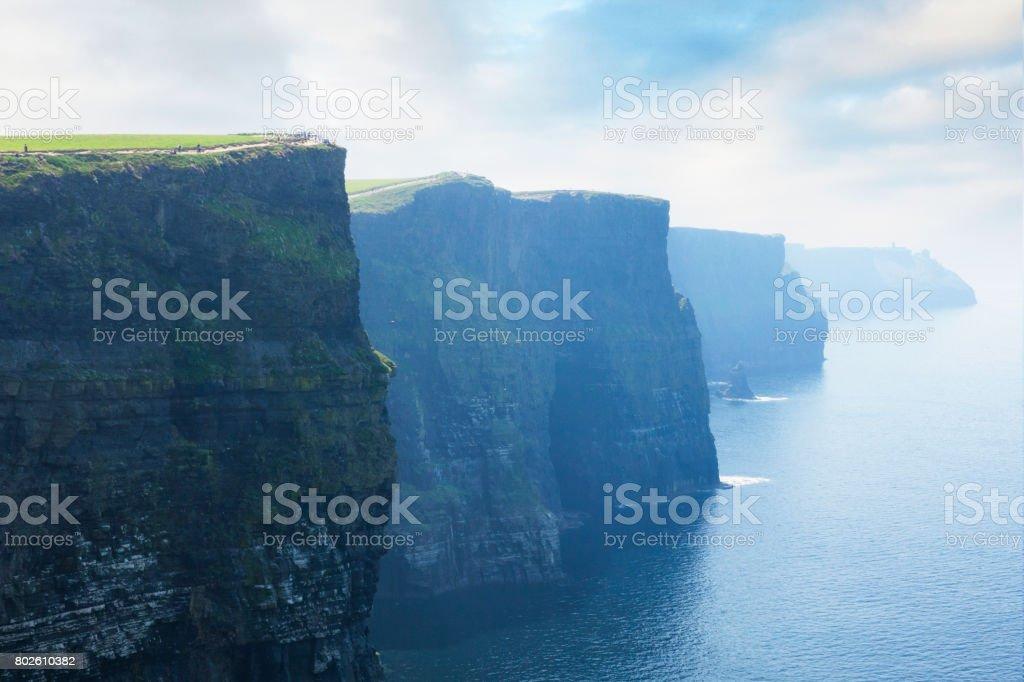절벽 오브 모허 in 카운티 클레어, 아일랜드 - 로열티 프리 0명 스톡 사진