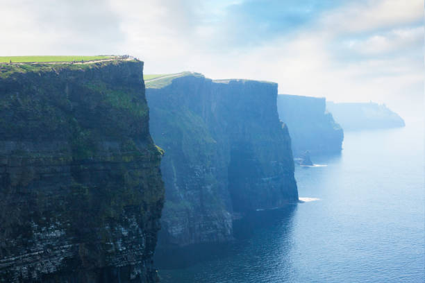 cliffs of moher in county clare, ireland - cliffs of moher stock pictures, royalty-free photos & images