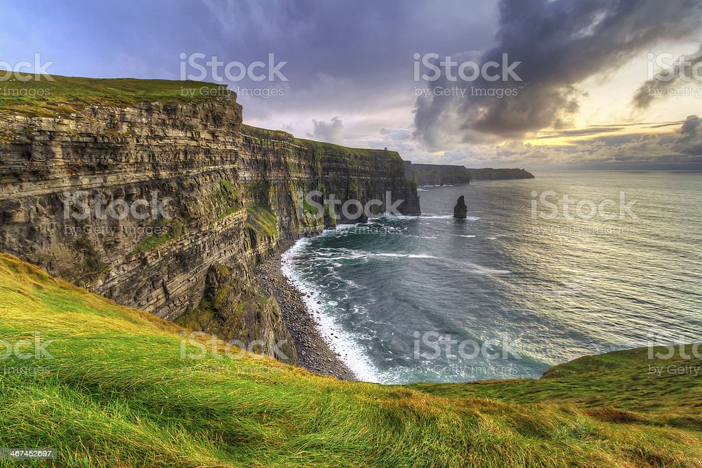 Cliffs of Moher in Ireland stock photo