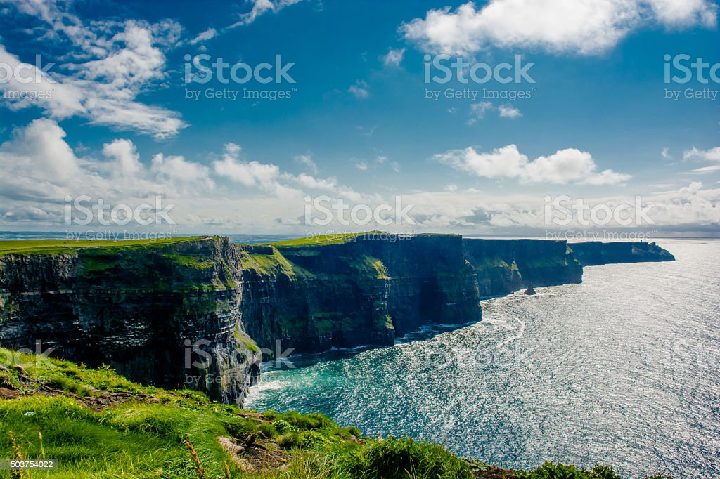Cliffs Of Moher In Ireland Cliffs Of Moher In Ireland At The Edge Of Stock Photo