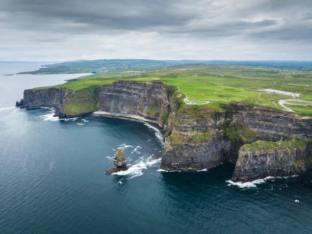 Klippen von Moher Irland Antenne Wild Atlantic Way – Foto
