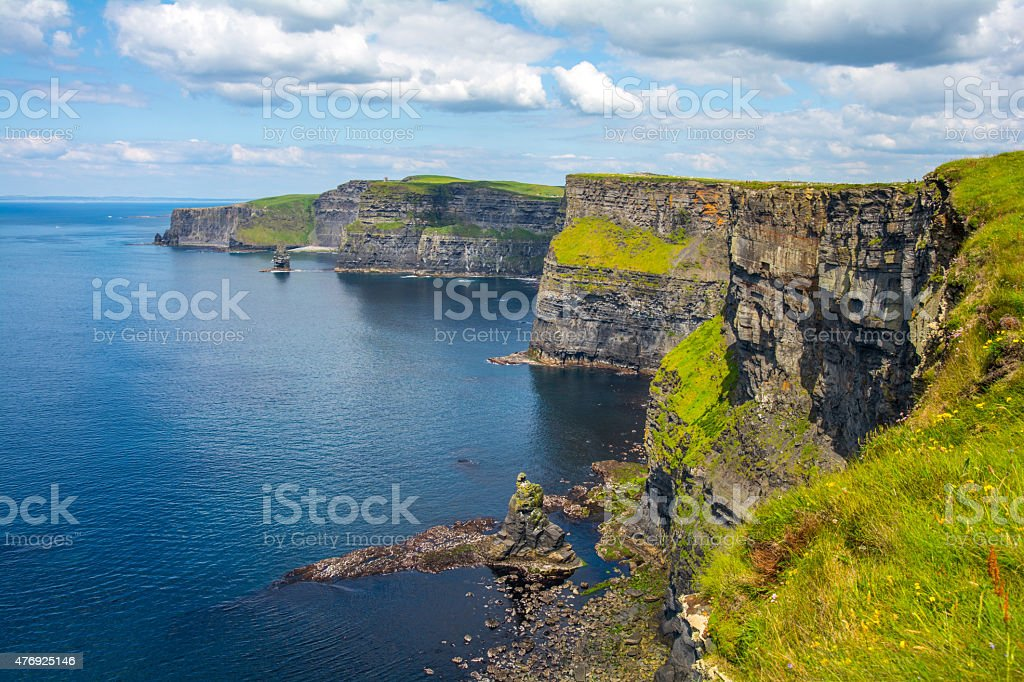 Cliff's of Moher, Ireland stock photo