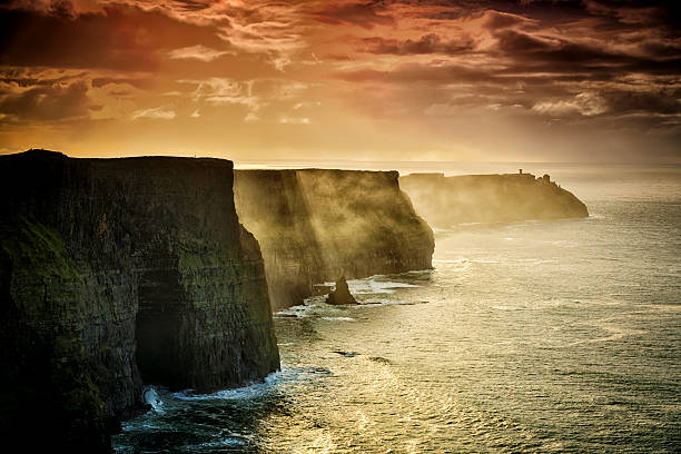 cliffs of moher, ireland - county clare stock pictures, royalty-free photos & images