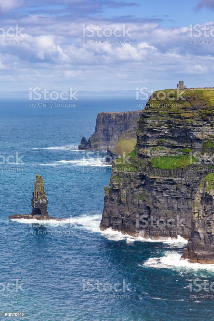 Cliffs of Moher Ireland travel traveling portrait format sea nature stock photo