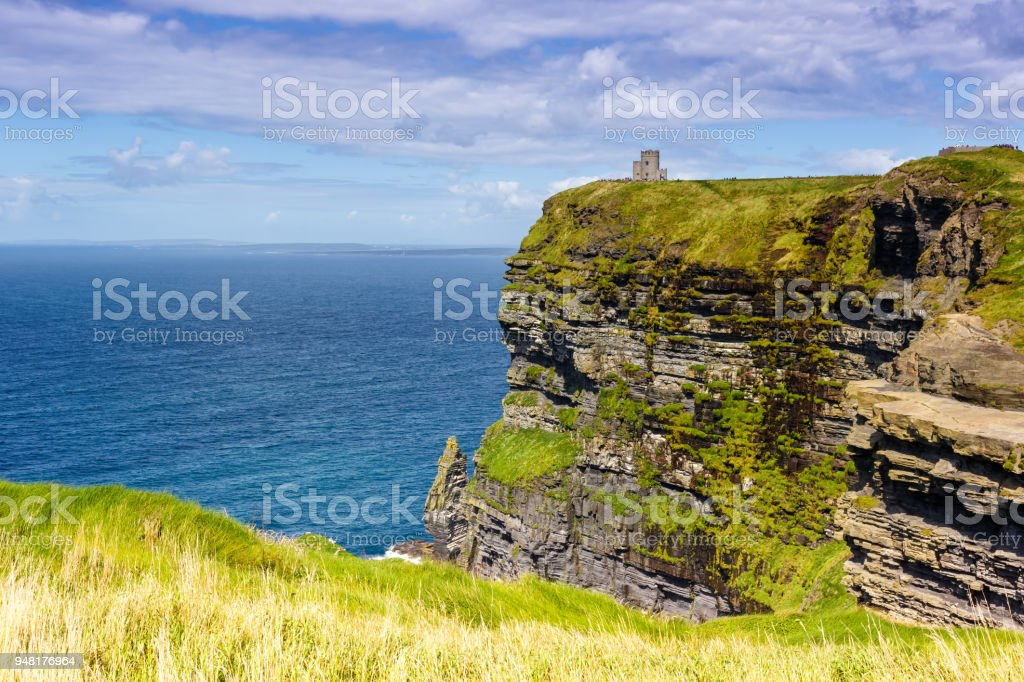 Cliffs of Moher Ireland travel traveling sea nature tourism ocean stock photo