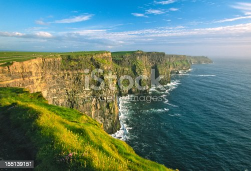 Cliffs of Moher from overlook. Near Doolin, County Clare, Ireland.