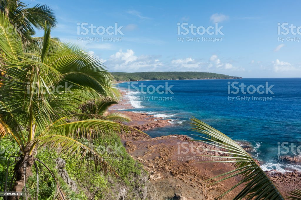 Cliffs of Niue stock photo