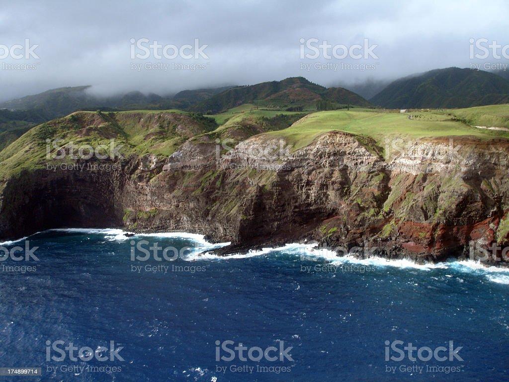 Cliffs of North Maui stock photo