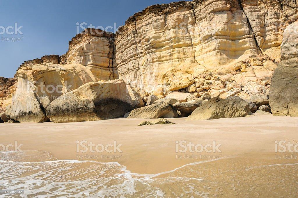 Cliffs of Ras al-Jinz stock photo