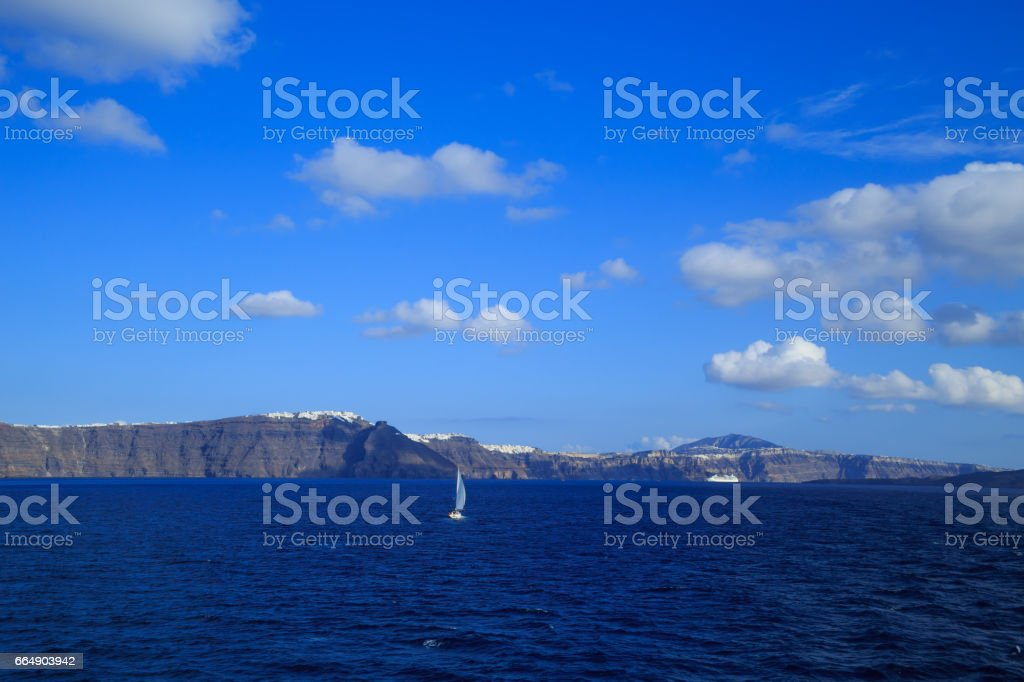 Cliffs of Santorini island foto stock royalty-free