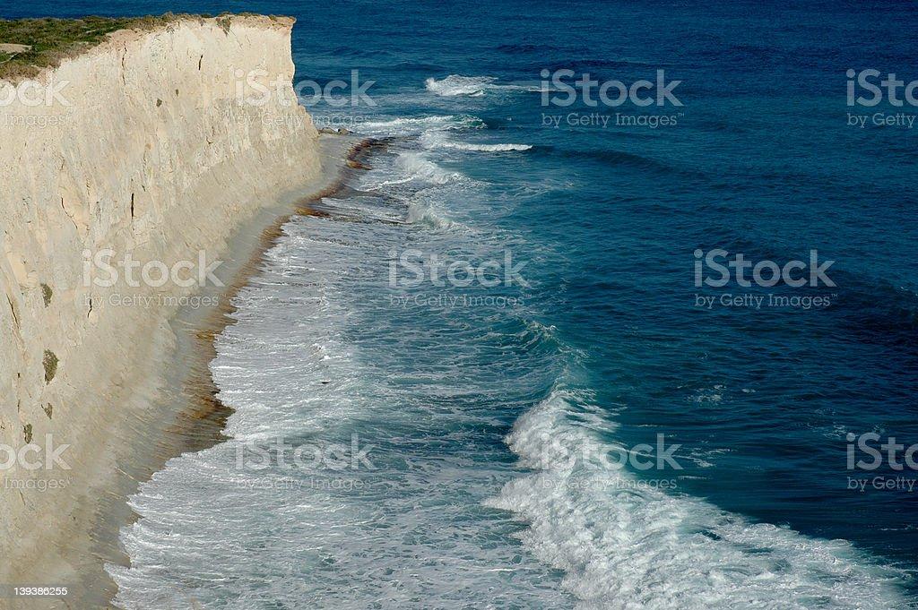 Cliffs of St Thomas Bay royalty-free stock photo