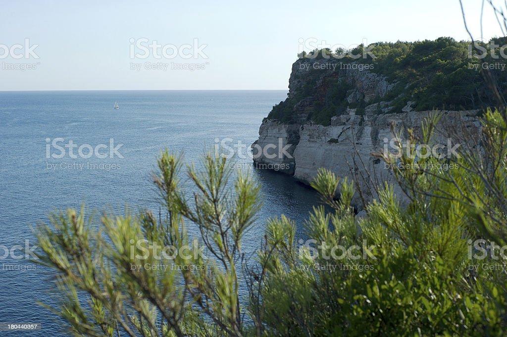 Cliffs of the Coast, Menorca royalty-free stock photo