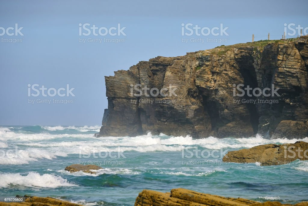 Cliffs on a beach royalty-free stock photo
