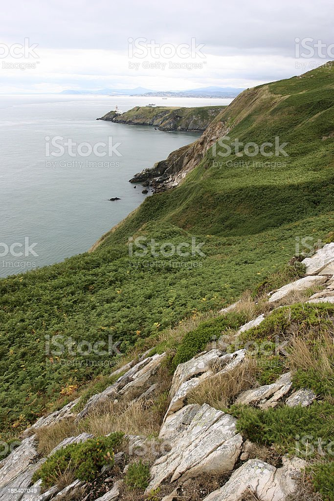 cliffs on Howth royalty-free stock photo
