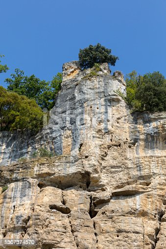 istock Cliffs on the banks of the river Dordogne in France 1307374570