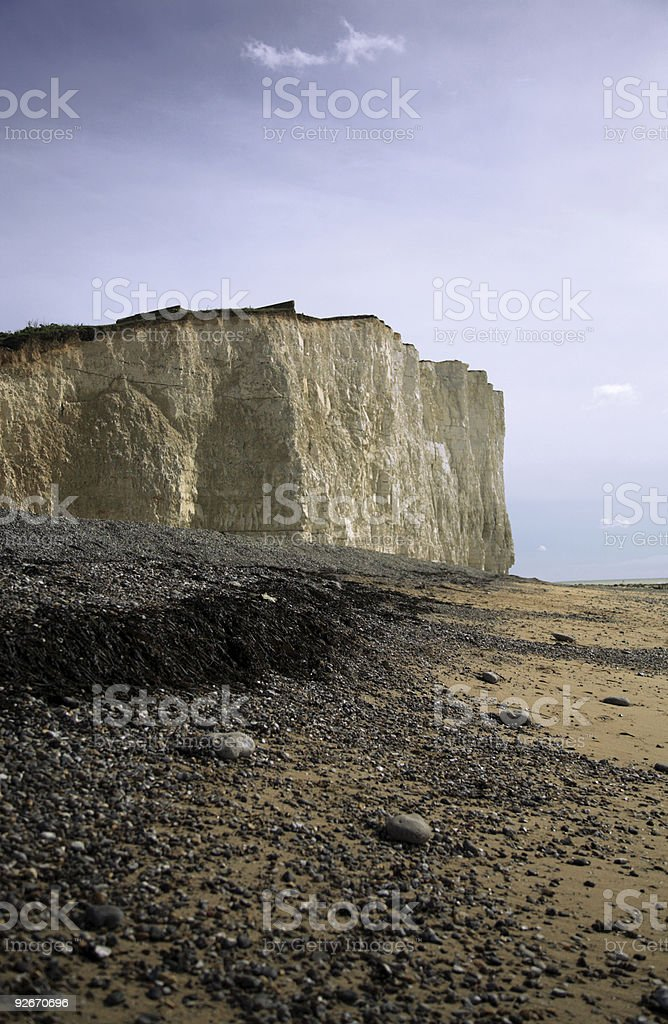 Cliffs on the East Coast of England royalty-free stock photo
