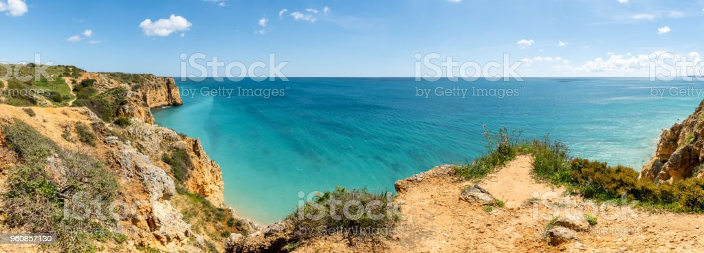Cliffs view on Lagos, Algarve stock photo