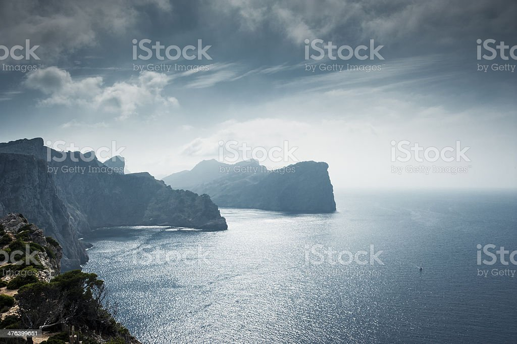 Cliffs with amazing scenic royalty-free stock photo