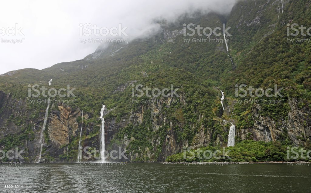 Cliffs with Fairy Falls stock photo
