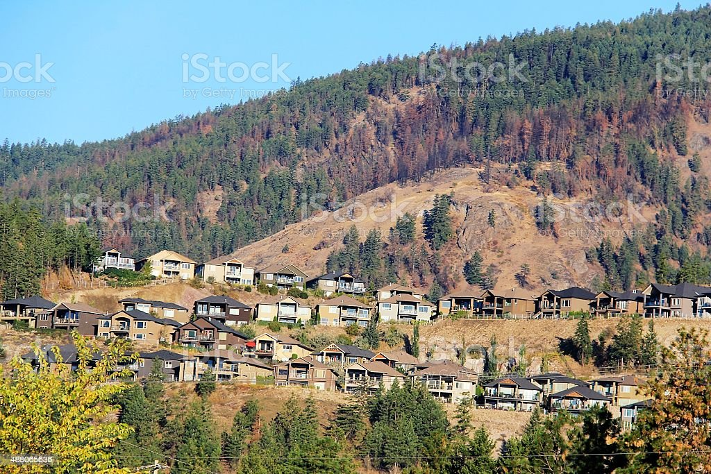 Cliffside Homes stock photo