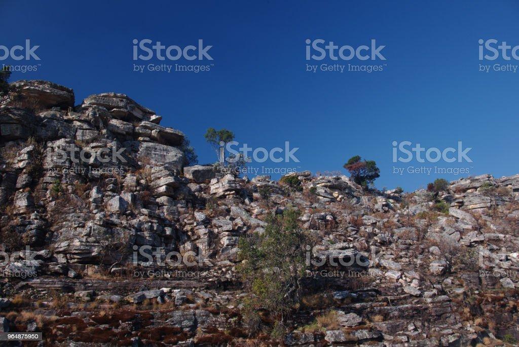 Cliffside rocks in Tunda Vala, Lubango, Angola royalty-free stock photo