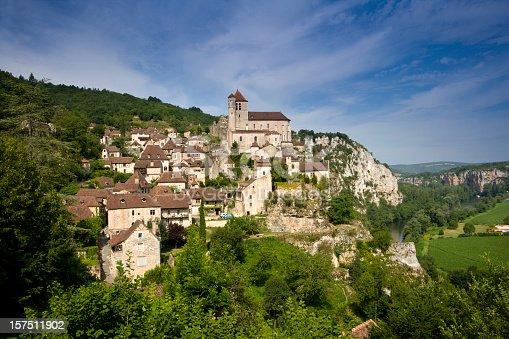 istock Clifftop village of Saint-Cirq-Lapopie in France 157511902
