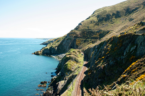 Cliffwalking Between Bray And Greystone Ireland Stock Photo - Download Image Now