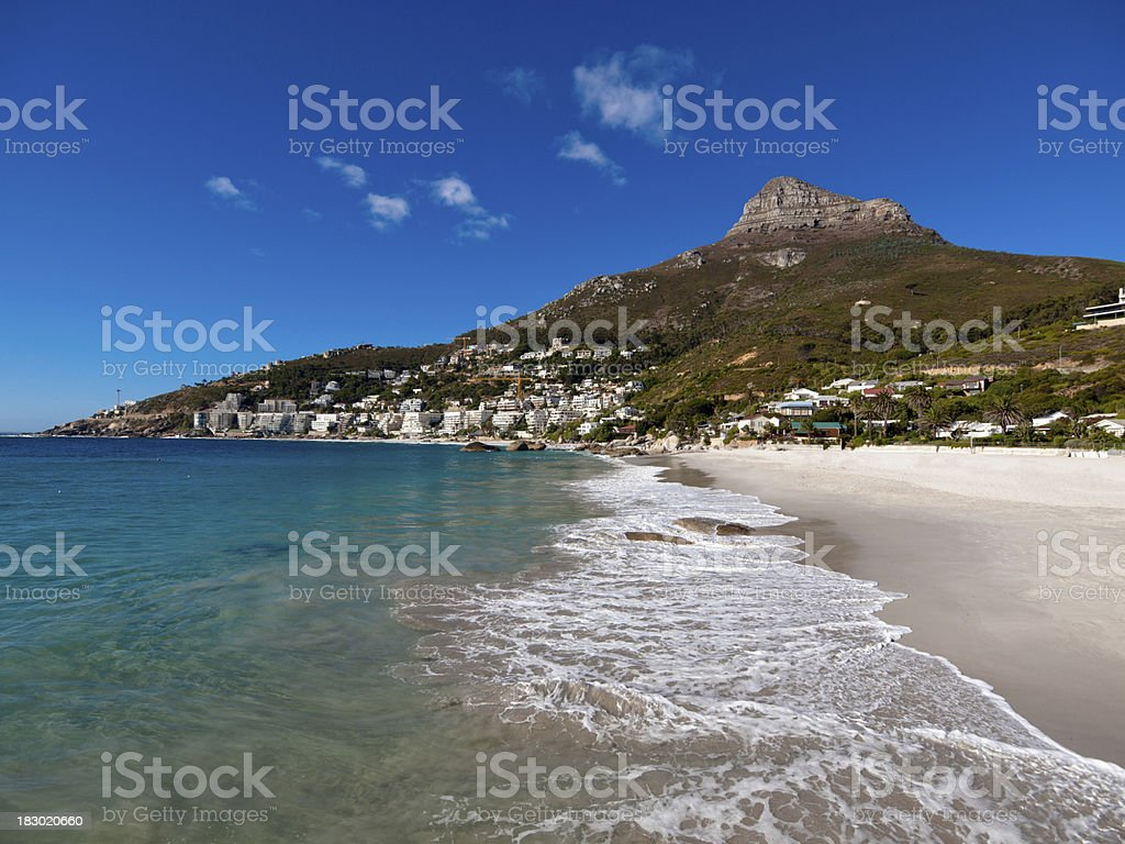 Clifton beach and landscape, Cape Town stock photo