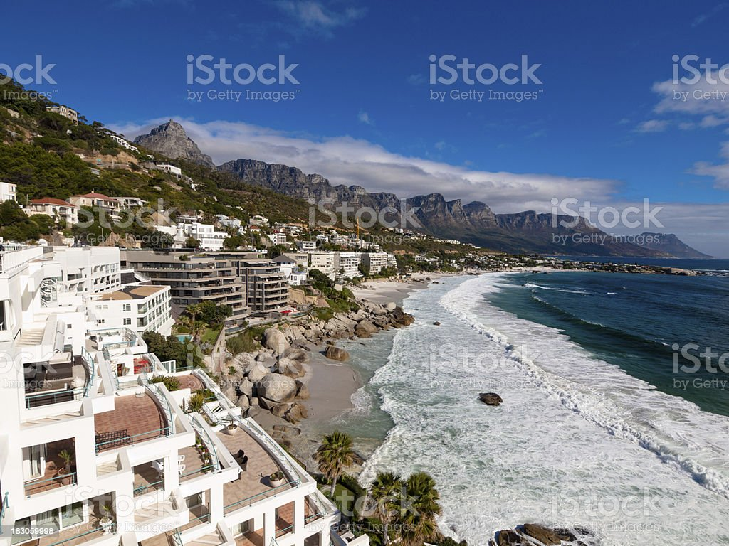 Clifton beach and landscape, Cape Town royalty-free stock photo