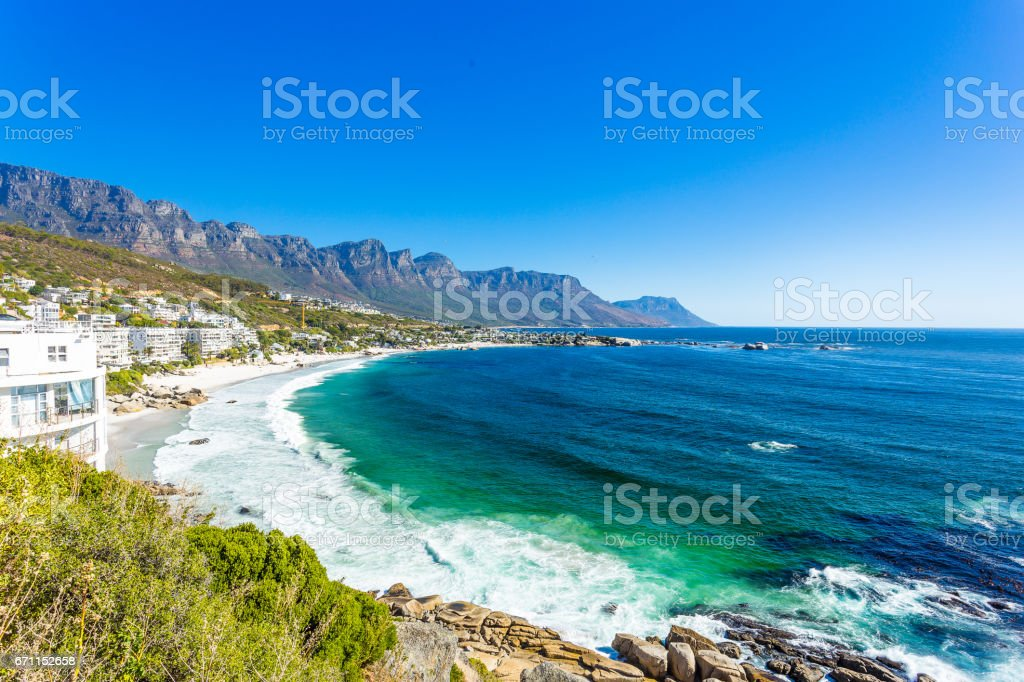 Clifton beach without people at noon stock photo