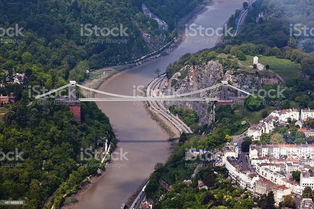 Clifton Suspension Bridge Aerial Photo Royalty Free Stock