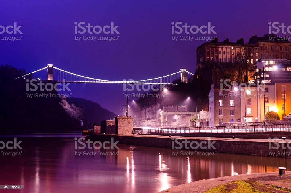 Clifton Suspension Bridge, Bristol. stock photo