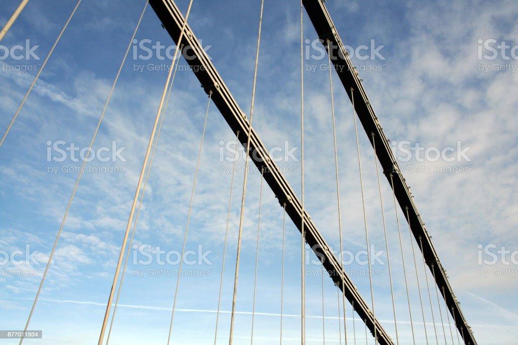 Clifton Suspension Bridge Cables stock photo