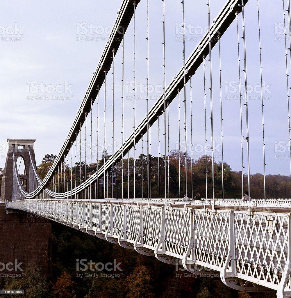 Clifton Suspension Bridge in Bristol, England royalty-free stock photo