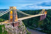 Clifton Suspension Bridge, River Avon, Bristol, England