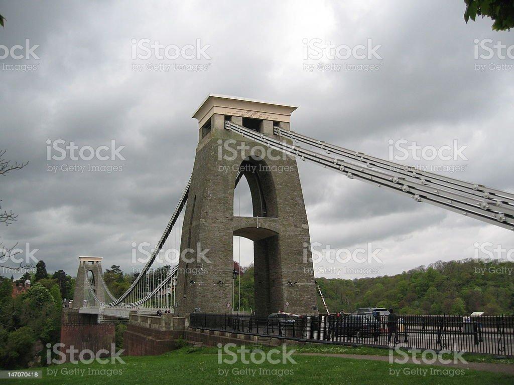 Clifton Suspension Bridge spanning the Avon Gorge near Bristol stock photo