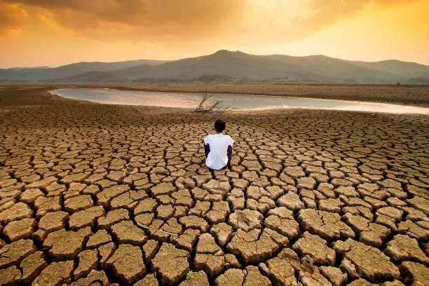 Climate change and Drought stock photo