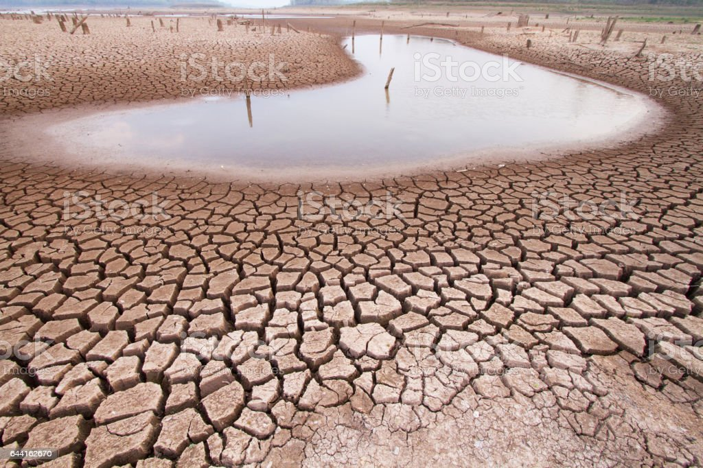 Climate change drought land stock photo