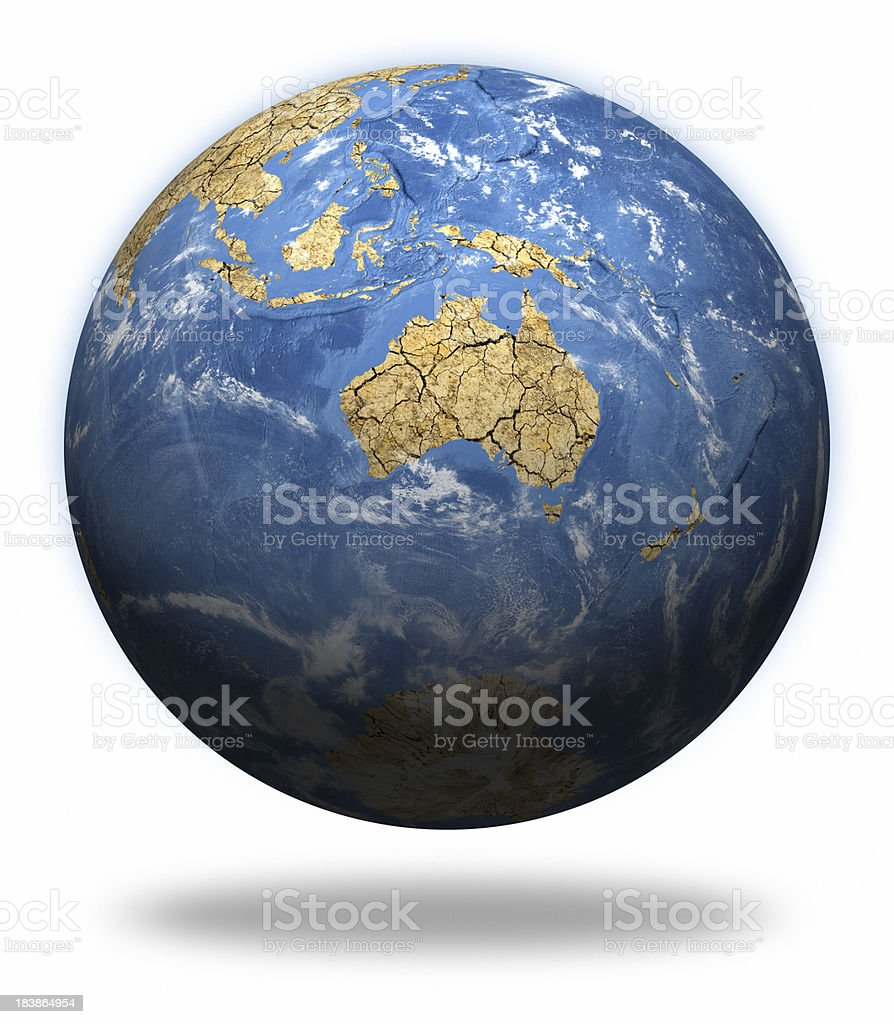 Climate Change Earth - Australasia royalty-free stock photo