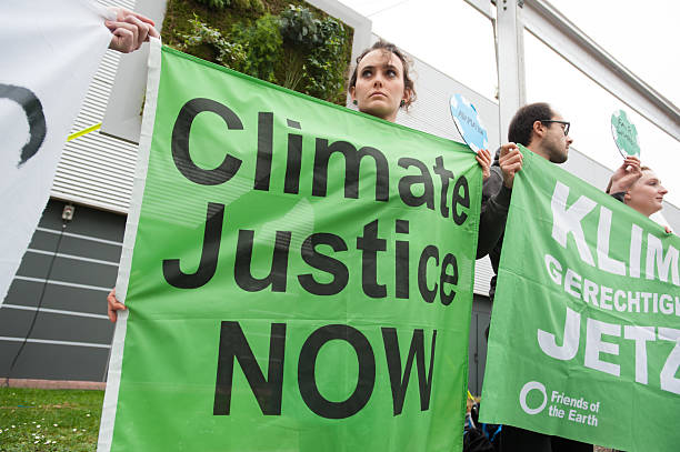 COP21 climate conference protest stock photo