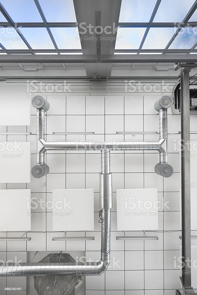 Climate control under ceiling royalty-free stock photo