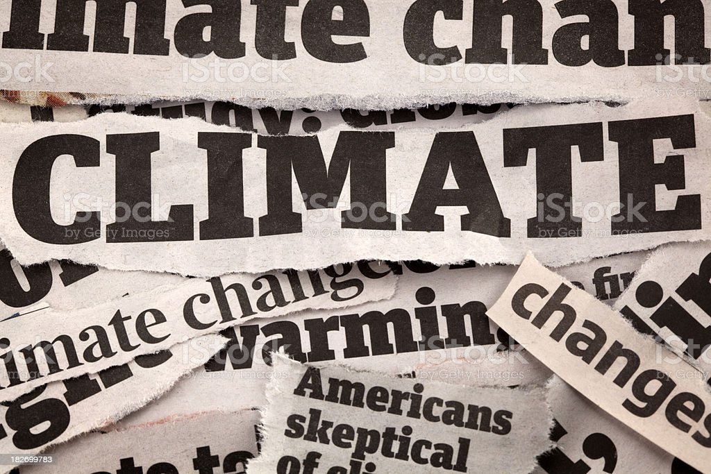 Climate headlines royalty-free stock photo